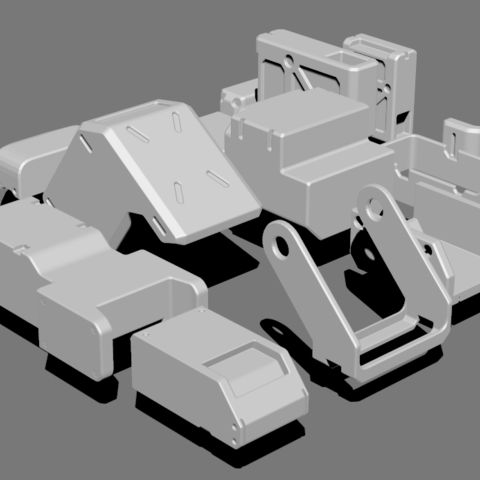4.png Télécharger fichier STL gratuit Basic Kit-Bash Vol1 • Design à imprimer en 3D, Dekro