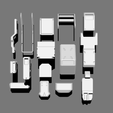 5.png Télécharger fichier STL gratuit Basic Kit-Bash Vol1 • Design à imprimer en 3D, Dekro