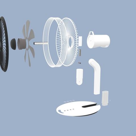 ff.349.jpg Download STL file Folding Table Fan • 3D printer object, Dekro