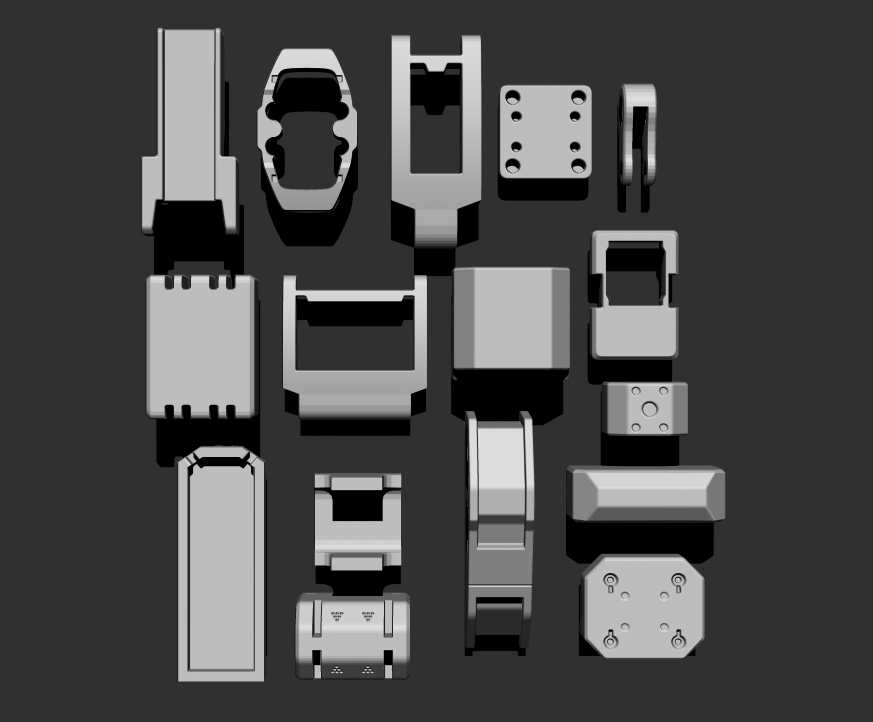 3.png Download free STL file Basic Kit-Bash Vol2 • Model to 3D print, Dekro