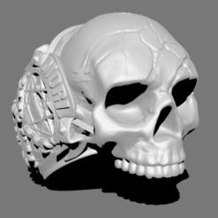 Télécharger fichier imprimante 3D Bague Crâne, Dekro