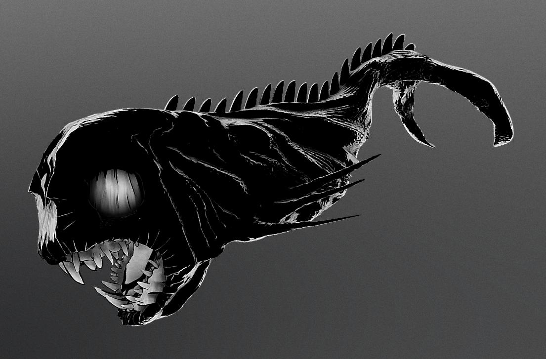 Screenshot_5.png Download STL file Depth Creature • 3D print model, Dekro