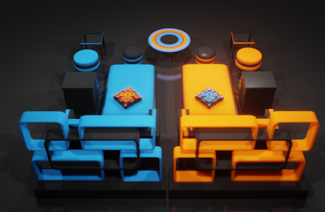 blender_ptwZ7OSI7G.png Download STL file Furniture Set • 3D printer object, Dekro