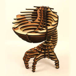 3d printer designs Hand Bowl, Dekro