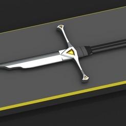 STL files Broken Sauron Sword, Dekro
