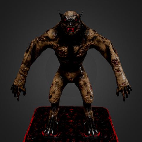 3D printing model Werewolf, Dekro