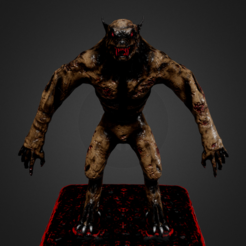 Download STL files Werewolf, Dekro