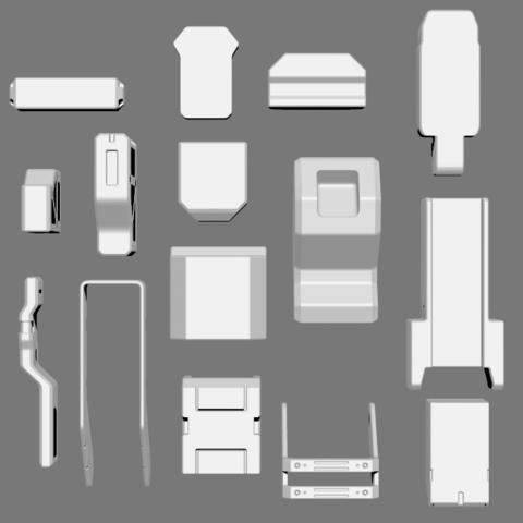 6.png Télécharger fichier STL gratuit Basic Kit-Bash Vol1 • Design à imprimer en 3D, Dekro