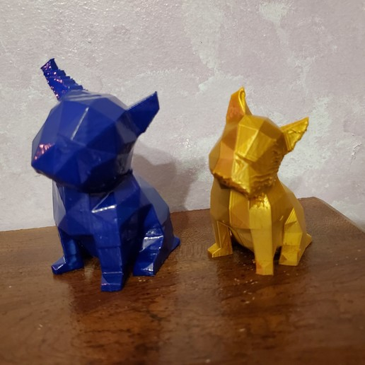 Download 3D printer templates LOW POLYGON FRENCH BULLDOG MODEL 3D PRINT MODEL, zebracan