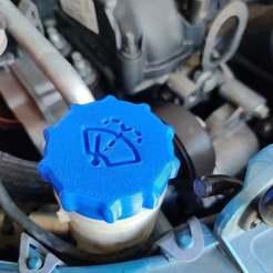 IMG_20200630_152619.jpg Télécharger fichier STL gratuit Ford Focus 2012 Capuchon de réservoir de liquide lave-glace v2 • Modèle pour imprimante 3D, RT3DWorkshop