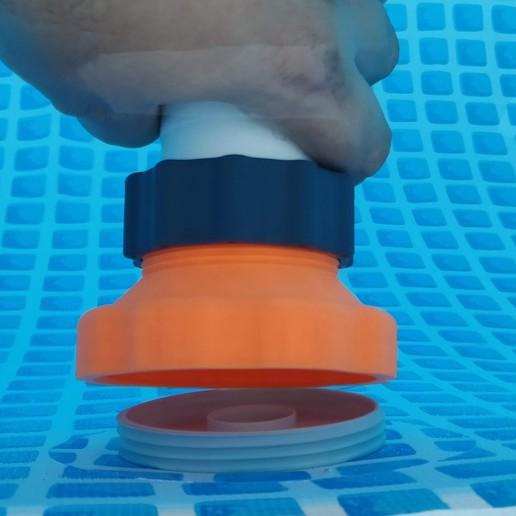 IMG_20180902_185248.jpg Télécharger fichier STL gratuit Adaptateur Intex Pool pour le nettoyeur de piscines • Plan imprimable en 3D, RT3DWorkshop