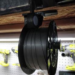 Download free 3D printing models 608Z Bearing Hanging Filament Spool Mount, RT3DWorkshop