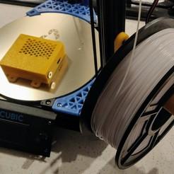 Télécharger fichier STL gratuit Support de bobine de filament Kossel Linear Plus Anycubic • Objet pour impression 3D, RT3DWorkshop