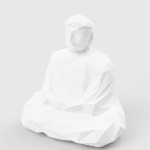 Plan 3D Low Poly Great Buddha, LowPoly512