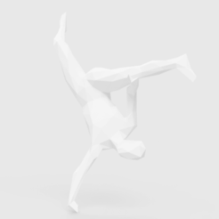 stl files Low Poly Capoeira Au batido, LowPoly512