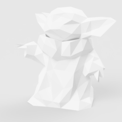 Baby_Yoad_2019-Dec-21_06-30-17PM-000_CustomizedView28275394998.png Download STL file Baby Yoda • 3D printer template, LowPoly512