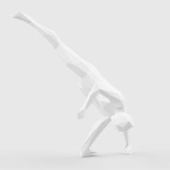 Fichier imprimante 3D Low Poly Capoeira Rabo de arraria, LowPoly512