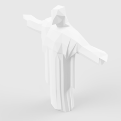Christ_The_Redeemer_2018-Front.png Télécharger fichier STL Low Poly Christ The Redeemer • Objet pour imprimante 3D, LowPoly512