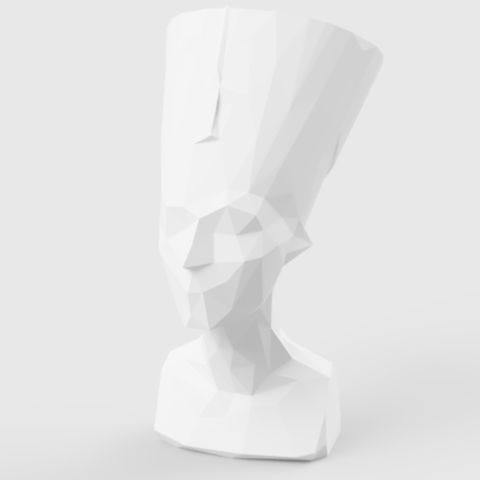 3d model Low Poly Nefertiti, LowPoly512