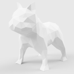 french_bulldog_2018.png Download STL file Low Poly French Bulldog • 3D printable template, LowPoly512