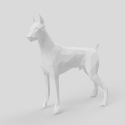 Dobermann_Low_2018-Apr-13_06-18-03PM-000_CustomizedView35486817337.png Download STL file Low Poly Dobermann • 3D printable design, LowPoly512