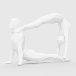 3d printer designs Yoga couple pose, LowPoly512