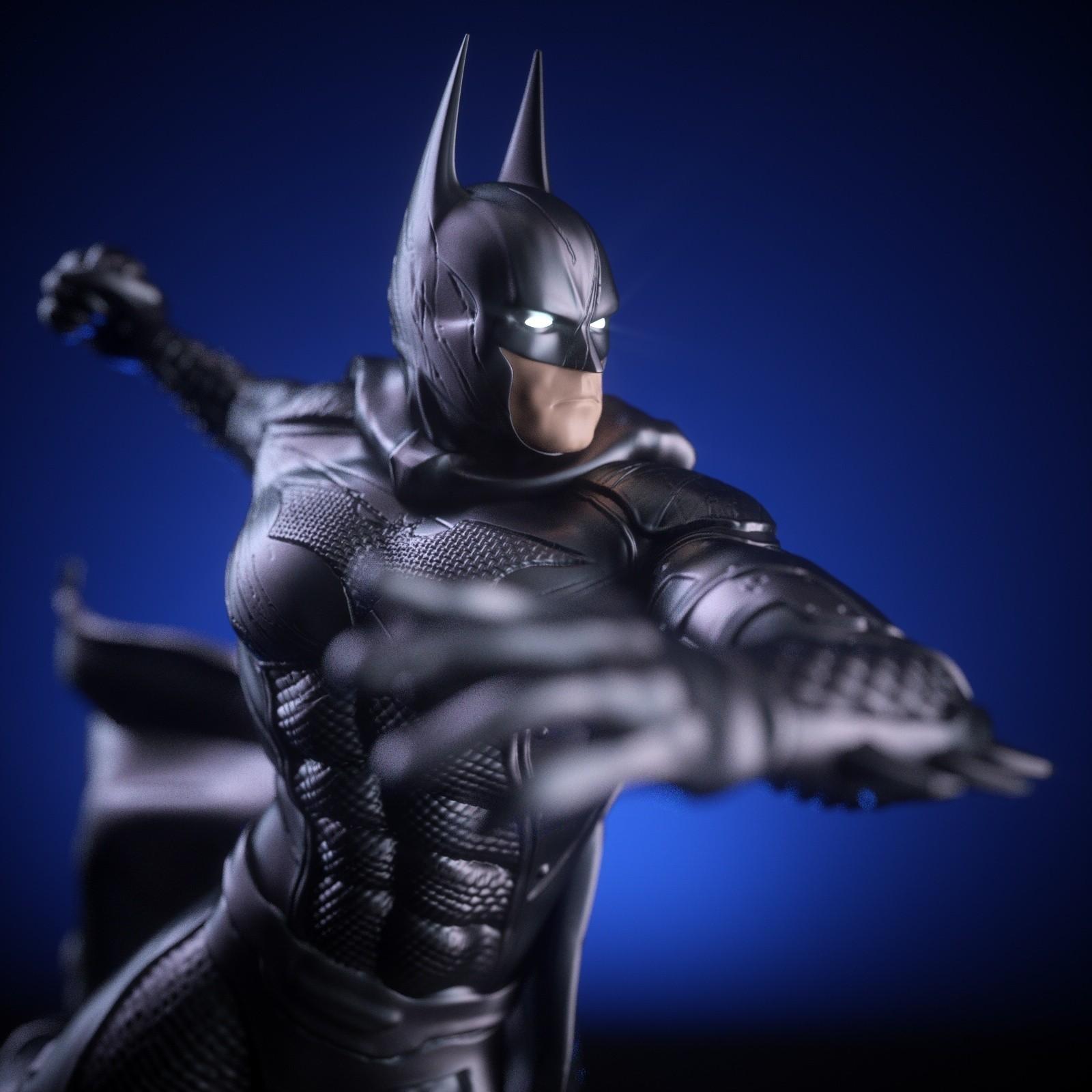 6.jpg Download OBJ file BATMAN Battle Pose • 3D print template, tolgaaxu