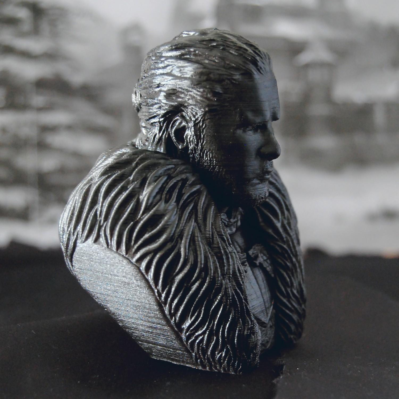 5.jpg Download OBJ file Jon Snow - Game of Thrones • 3D printable template, tolgaaxu
