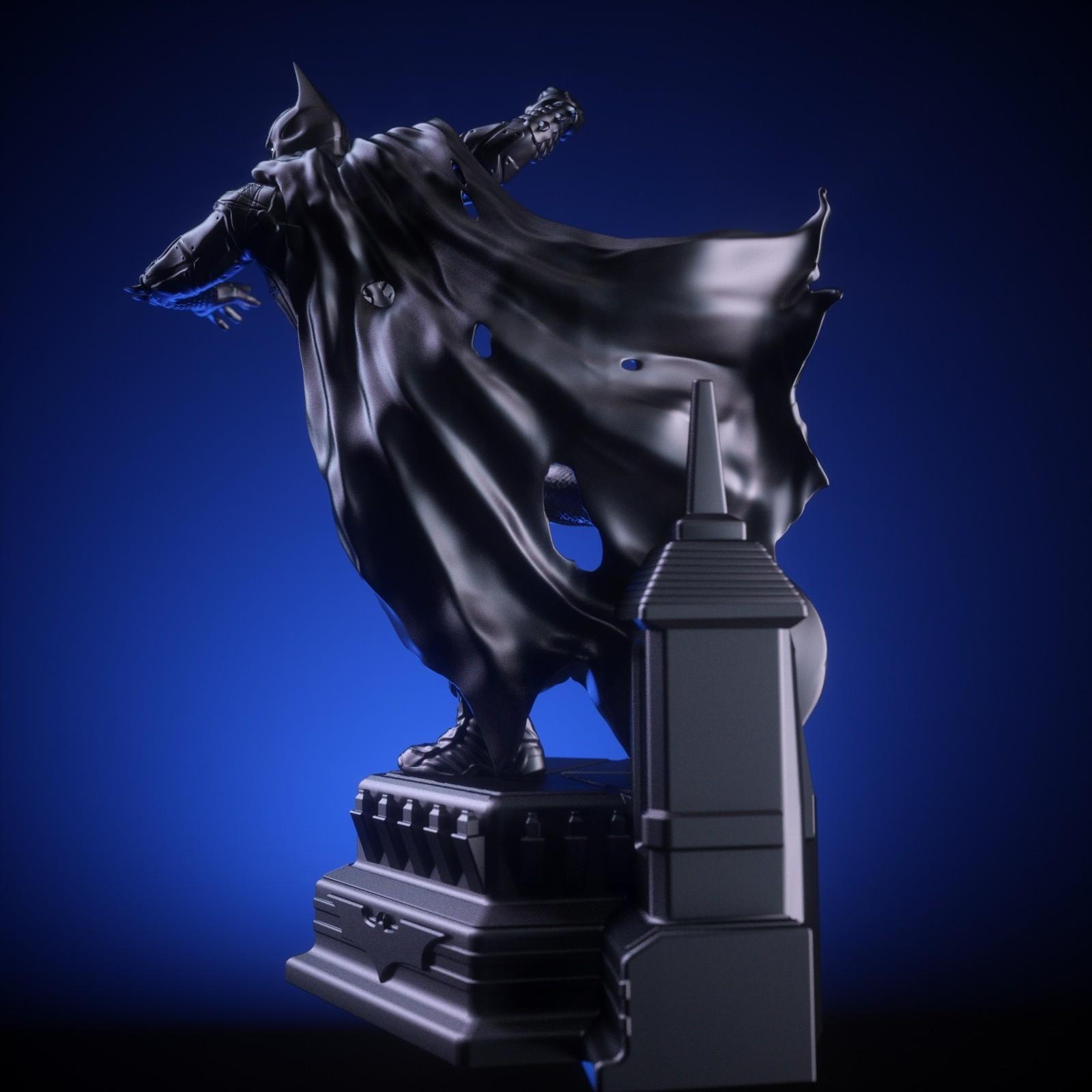 4.jpg Download OBJ file BATMAN Battle Pose • 3D print template, tolgaaxu