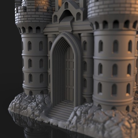 13.jpg Download OBJ file The Five Tower Hall • 3D printable template, tolgaaxu