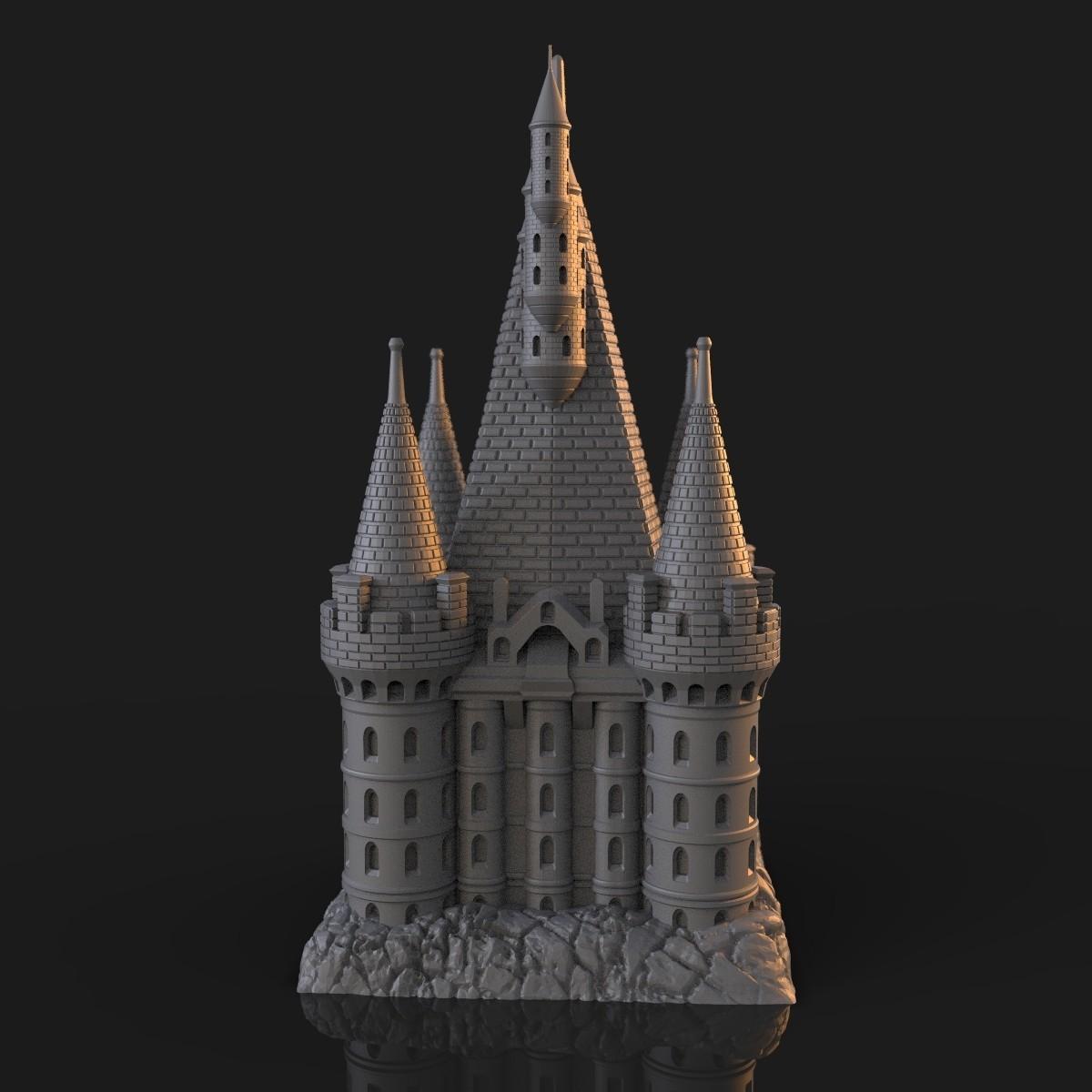 9.jpg Download OBJ file The Five Tower Hall • 3D printable template, tolgaaxu