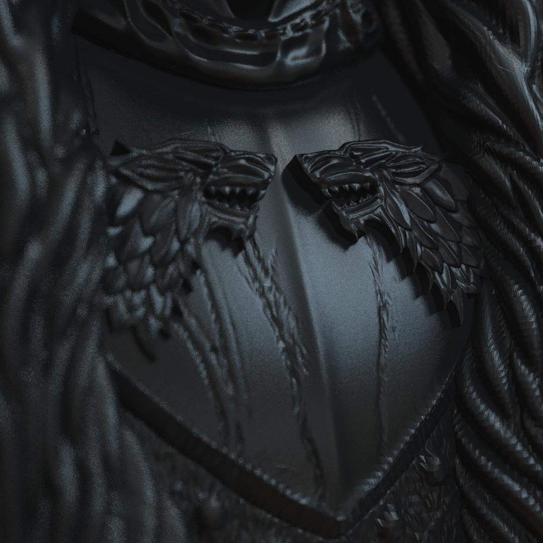 3.jpg Download OBJ file Jon Snow - Game of Thrones • 3D printable template, tolgaaxu