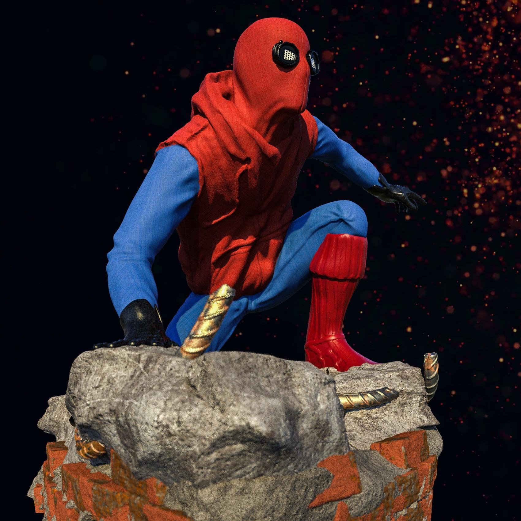 12.jpg Download STL file Spider-Man Homemade Suit • Design to 3D print, tolgaaxu