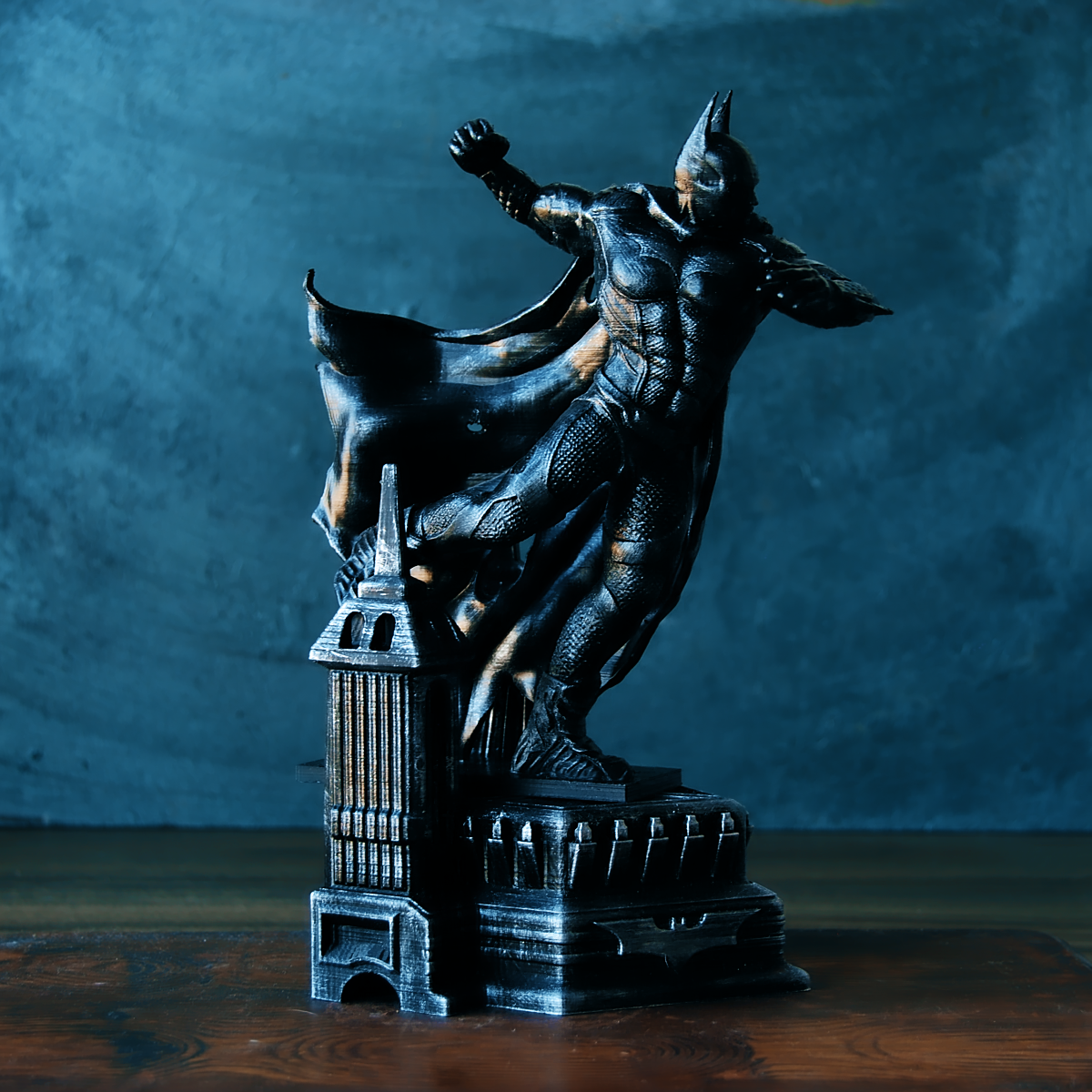 2.png Download OBJ file BATMAN Battle Pose • 3D print template, tolgaaxu