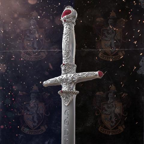 3.jpg Download STL file Godric Gryffindor's Sword - Harry Potter • 3D printing template, tolgaaxu