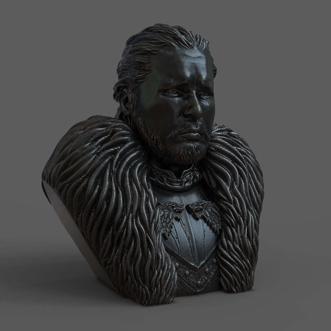 1.jpg Download OBJ file Jon Snow - Game of Thrones • 3D printable template, tolgaaxu