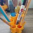Download free 3D printing designs Honeycomb Stylized Pencil Holder, tolgaaxu
