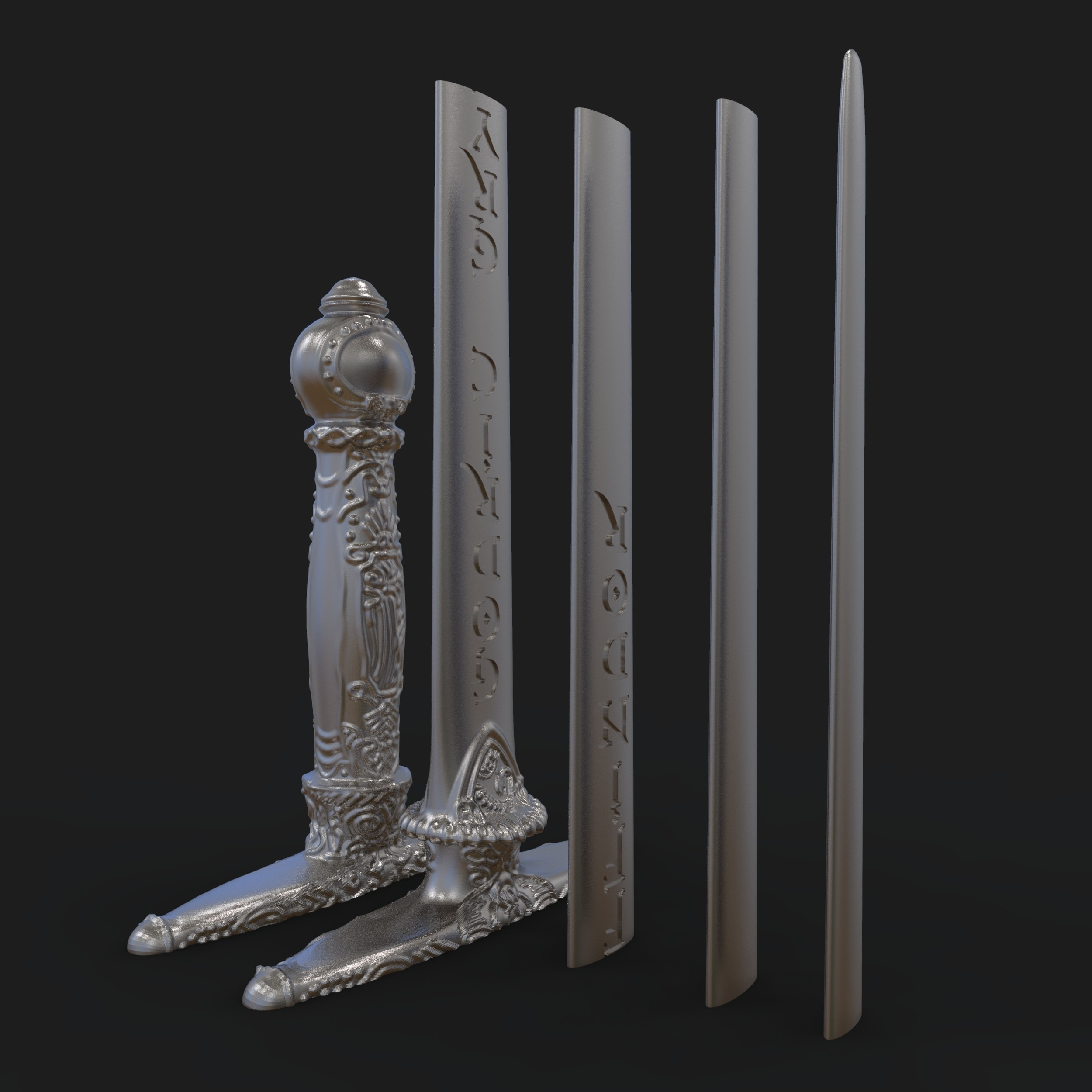 4.jpg Download STL file Godric Gryffindor's Sword - Harry Potter • 3D printing template, tolgaaxu