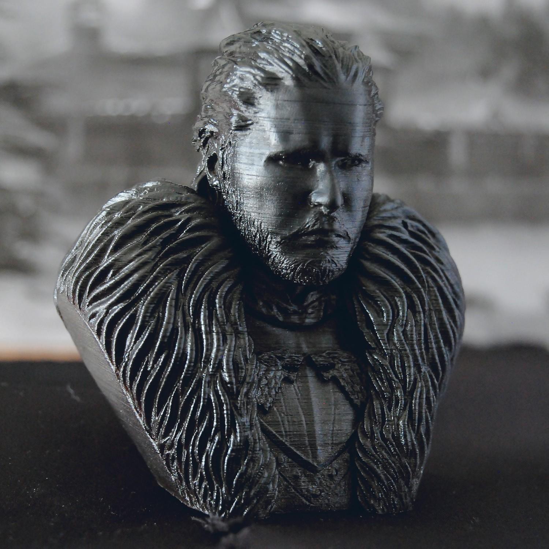 2.jpg Download OBJ file Jon Snow - Game of Thrones • 3D printable template, tolgaaxu