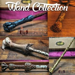 Download 3D printing files HARRY POTTER WAND COLLECTION , tolgaaxu