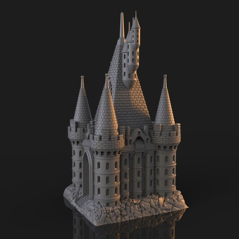 8.jpg Download OBJ file The Five Tower Hall • 3D printable template, tolgaaxu