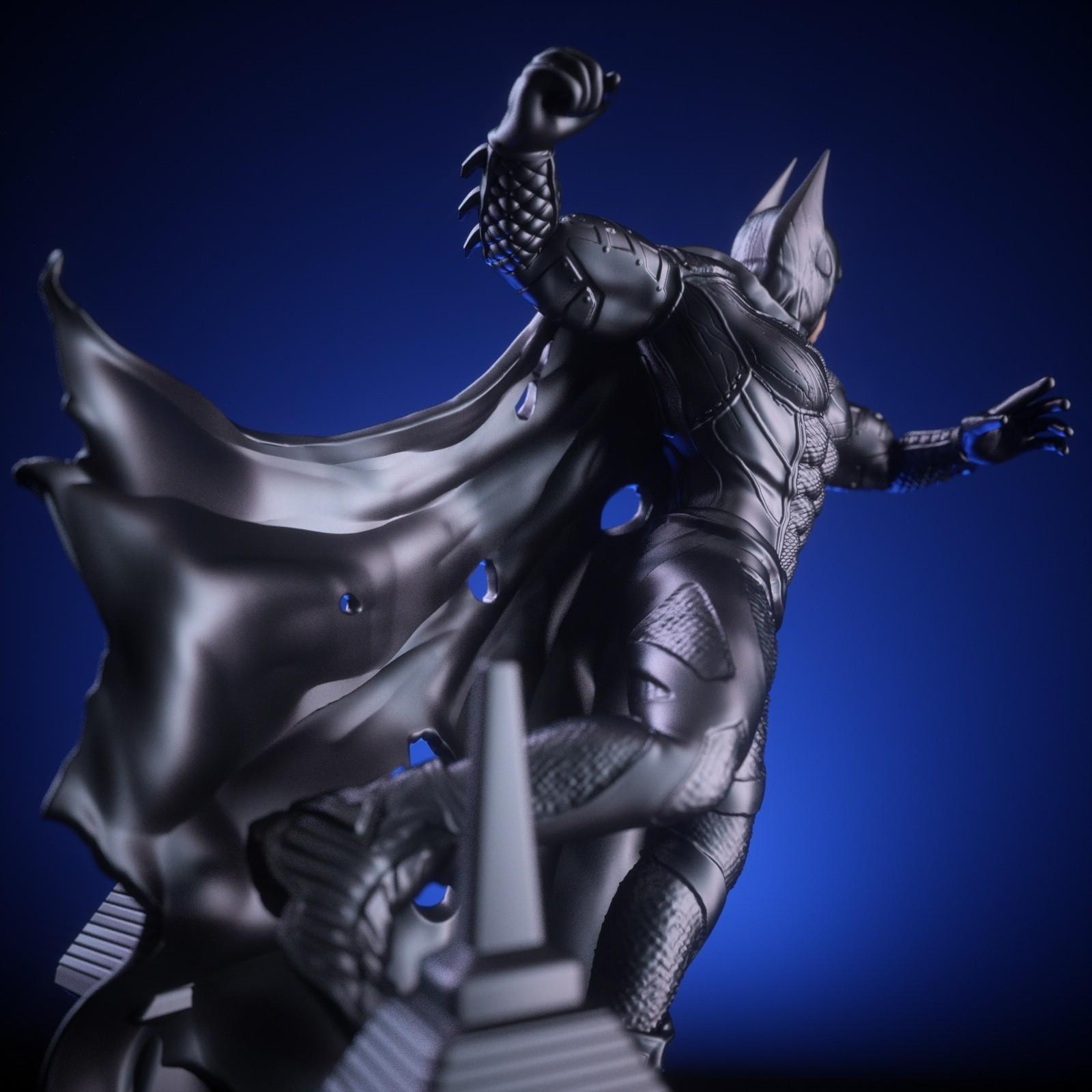 5.jpg Download OBJ file BATMAN Battle Pose • 3D print template, tolgaaxu