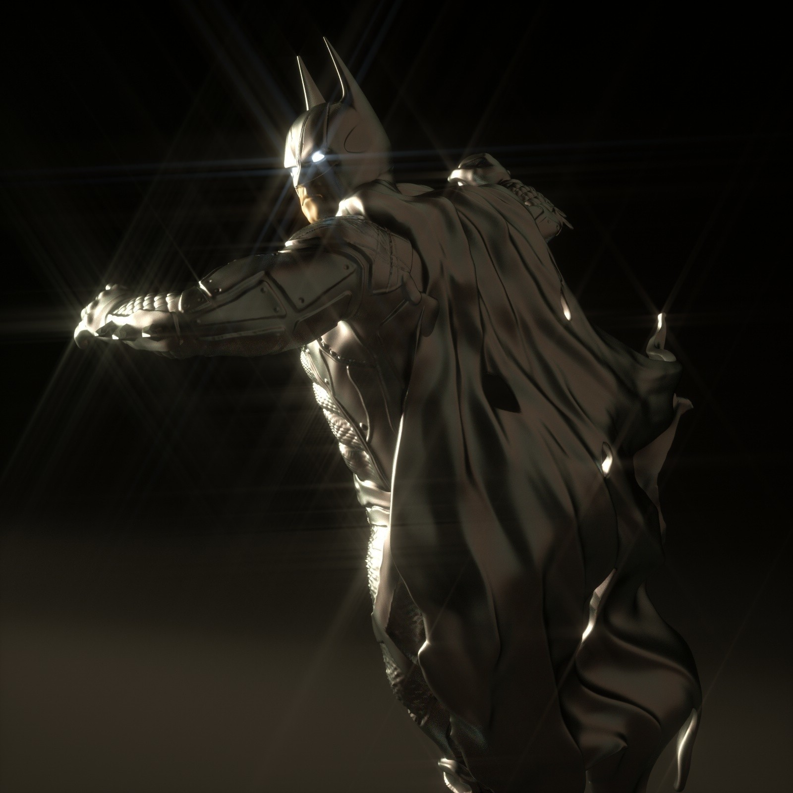 15.jpg Download OBJ file BATMAN Battle Pose • 3D print template, tolgaaxu