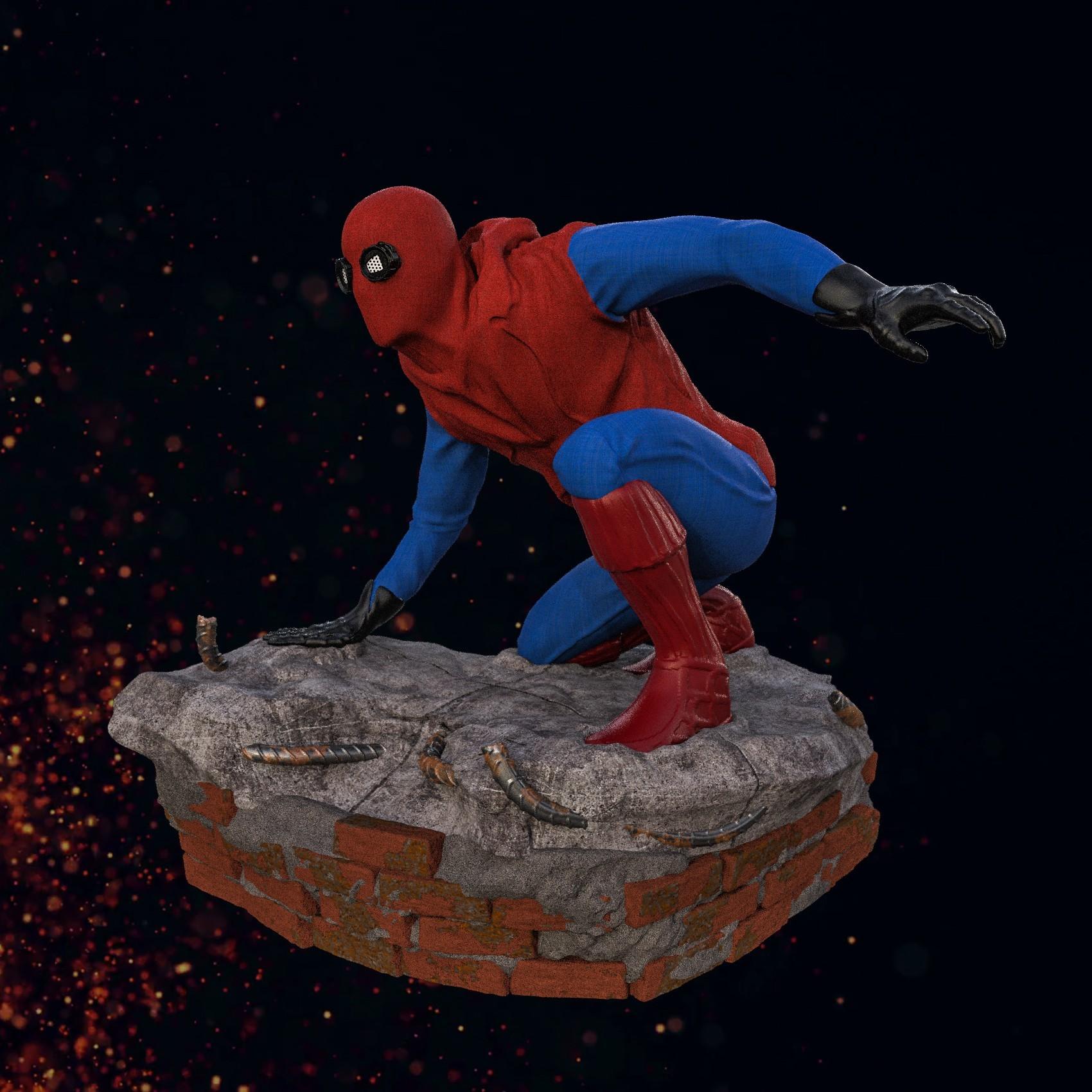 7.jpg Download STL file Spider-Man Homemade Suit • Design to 3D print, tolgaaxu