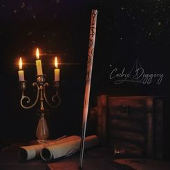 Cedric.jpg Download OBJ file Cedric Diggory Wand - Harry Potter • 3D printer design, tolgaaxu