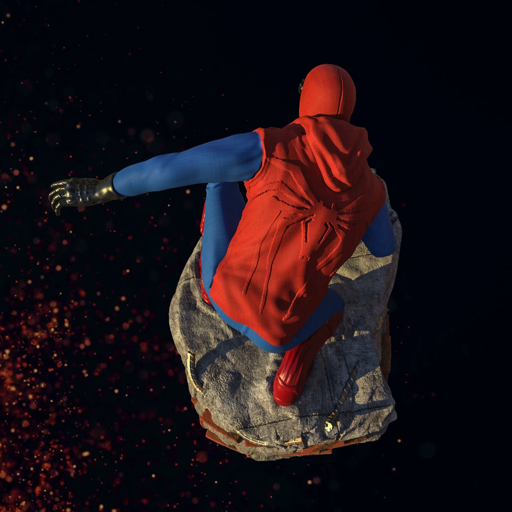 8.jpg Download STL file Spider-Man Homemade Suit • Design to 3D print, tolgaaxu