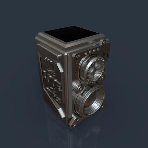 16.jpg Download 3DS file RETRO CAMERA FLOWERPOT • 3D printer template, tolgaaxu