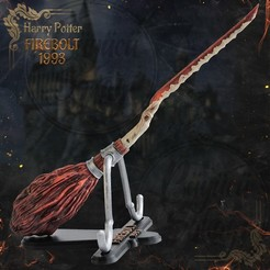 Download 3D printing models Firebolt Broomstick - Harry Potter - Goblet of Fire, tolgaaxu