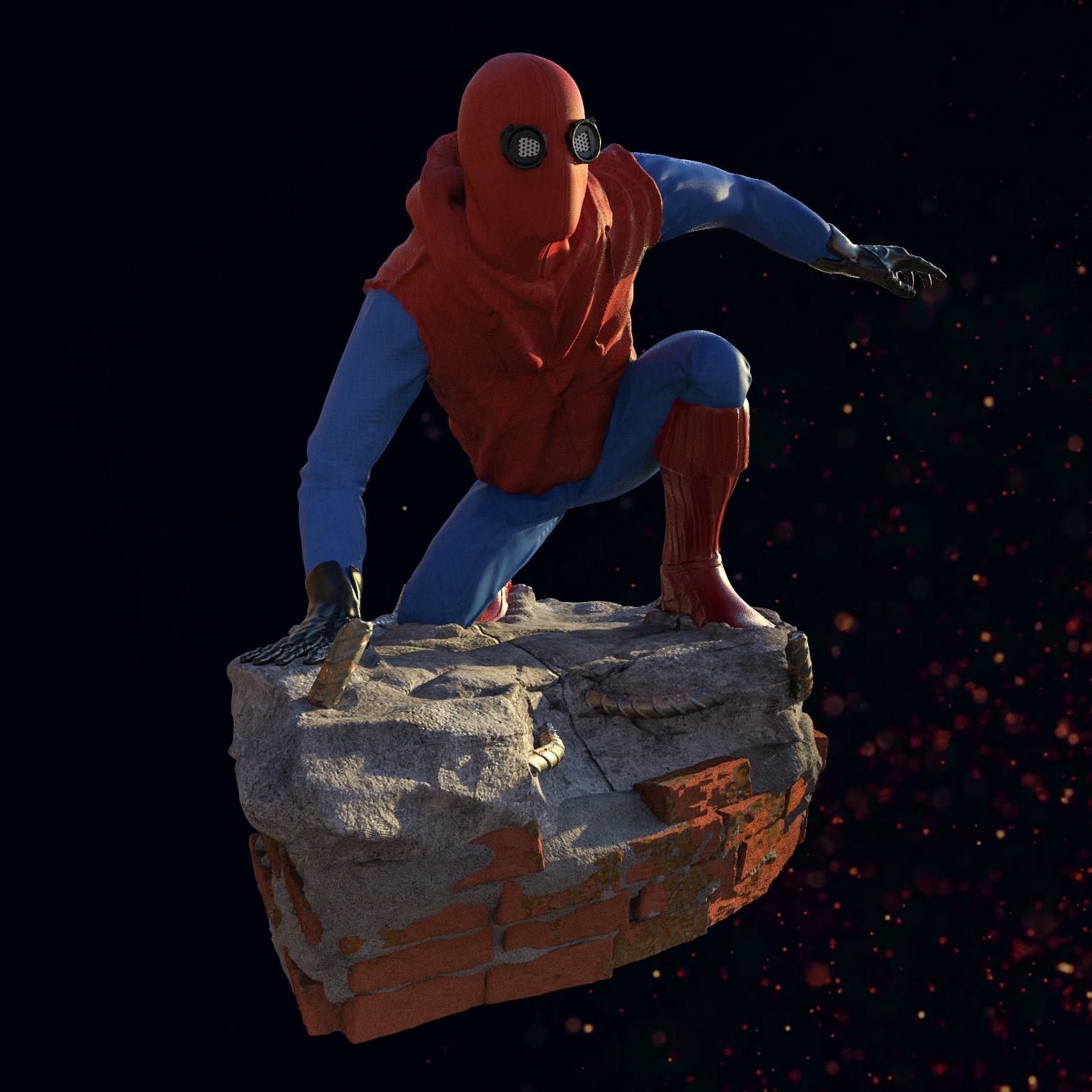 3.jpg Download STL file Spider-Man Homemade Suit • Design to 3D print, tolgaaxu