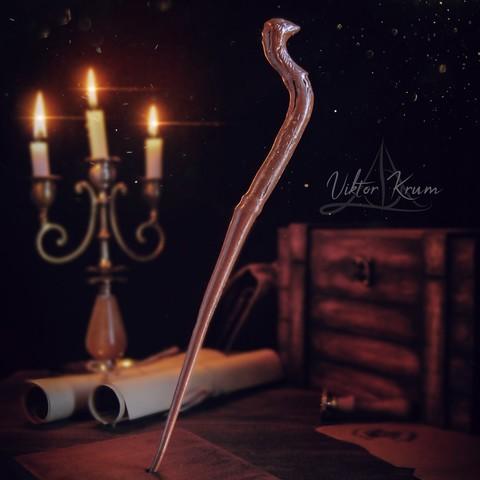 Descargar archivo OBJ Viktor Krum Wand- Harry Potter • Plan de la impresora 3D, tolgaaxu